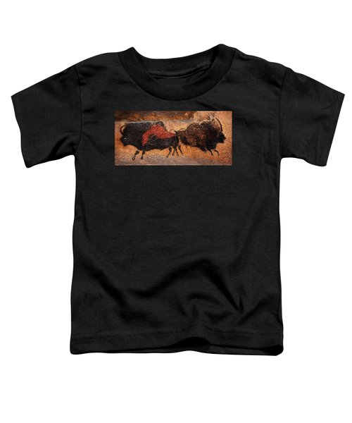 Two Bisons Running Toddler T-Shirt