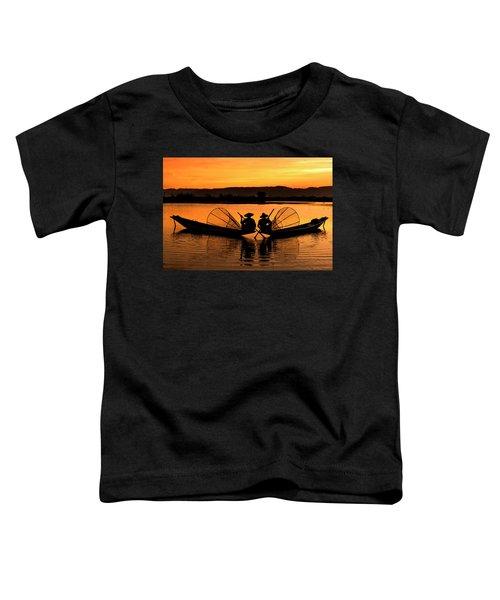 Two Fisherman At Sunset Toddler T-Shirt