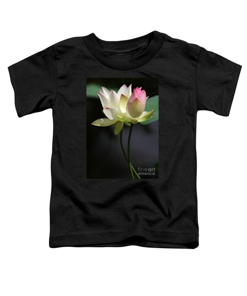 Two Lotus Flowers Toddler T-Shirt