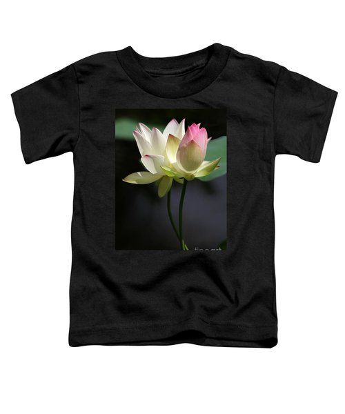 Two Lotus Flowers Toddler T-Shirt