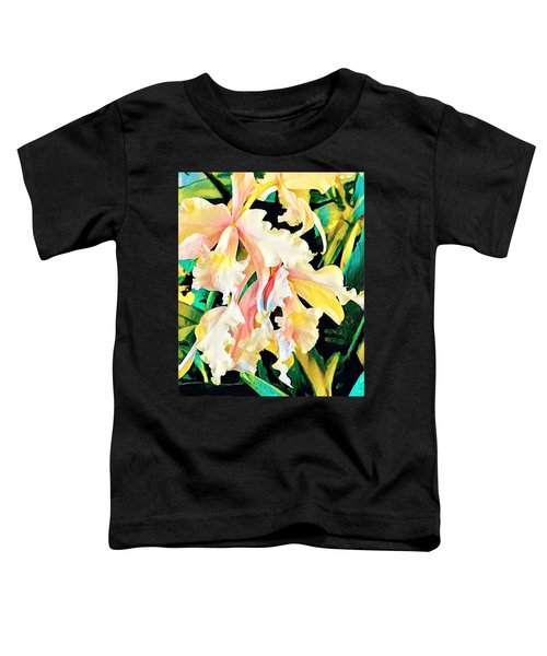 Two Orchids Pink Turquoise Toddler T-Shirt
