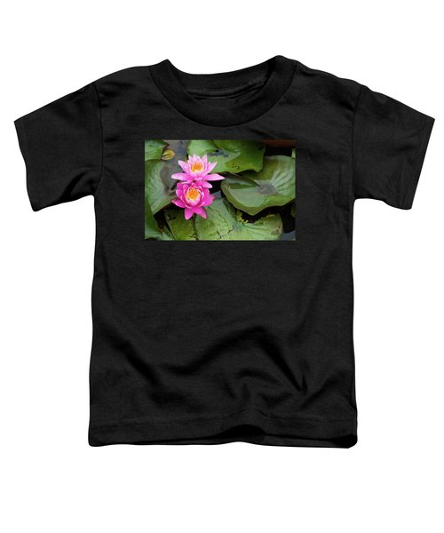 Two Pink Lilies Toddler T-Shirt