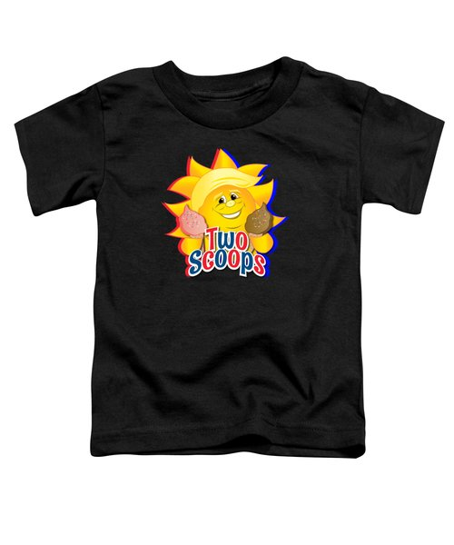 Two Scoops  Toddler T-Shirt by Eye Candy Creations