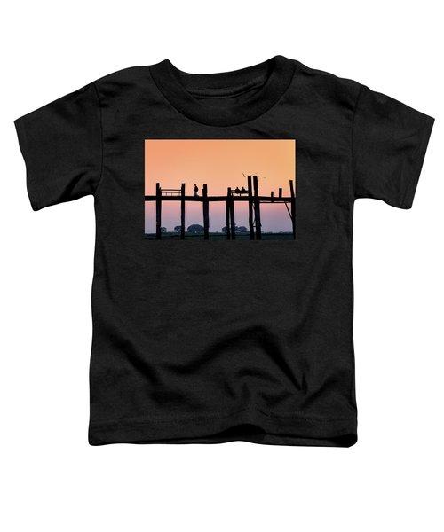 U-bein Bridge At Dawn Toddler T-Shirt
