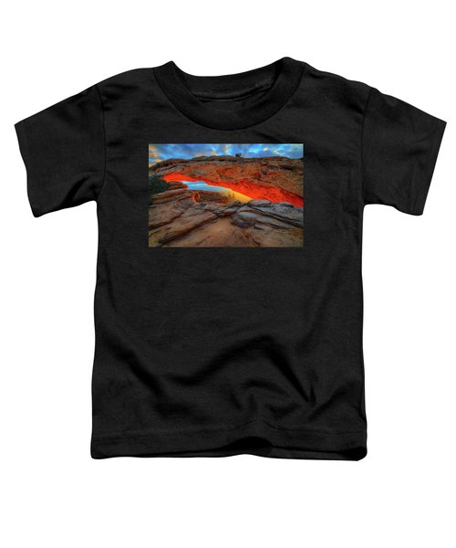 Toddler T-Shirt featuring the photograph Under The Arch by Greg Norrell