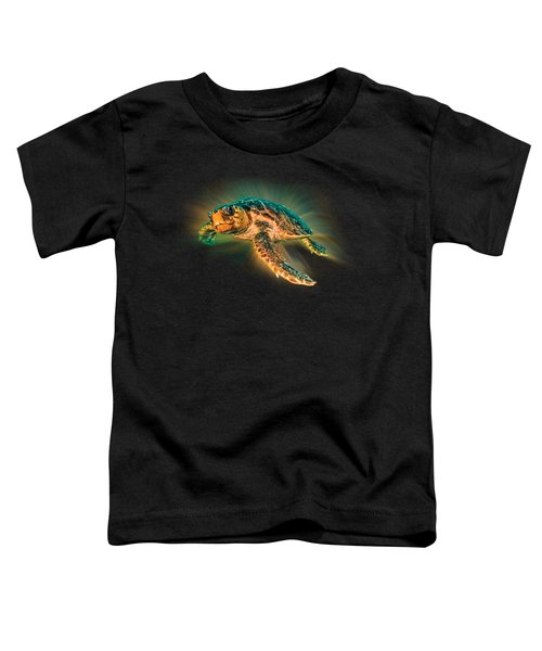 Undersea Turtle Toddler T-Shirt by Debra and Dave Vanderlaan
