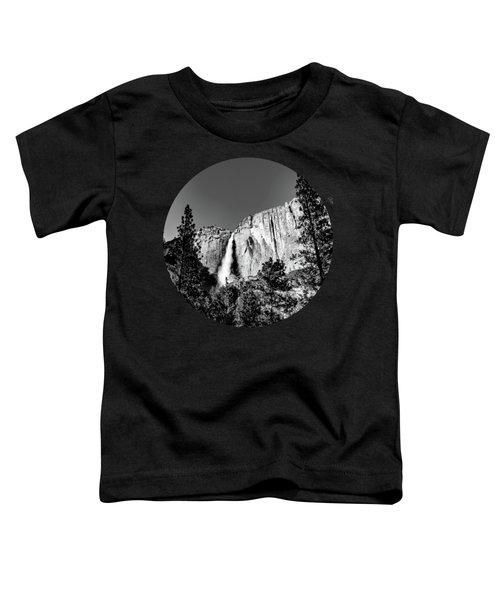 Upper Falls, Black And White Toddler T-Shirt by Adam Morsa