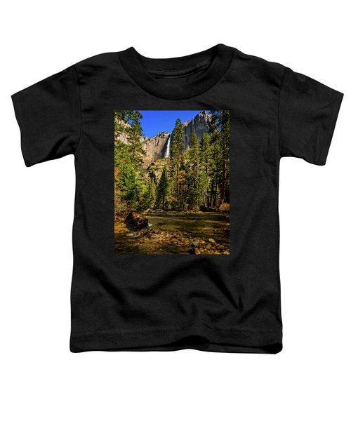 Upper Yosemite Falls From Yosemite Creek Toddler T-Shirt