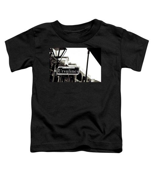 Ursulines In Monotone, New Orleans, Louisiana Toddler T-Shirt