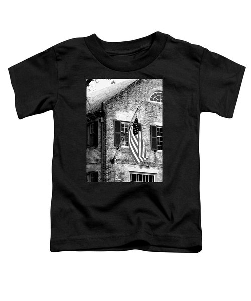 Us Flag In Colonial Williamsbug Toddler T-Shirt