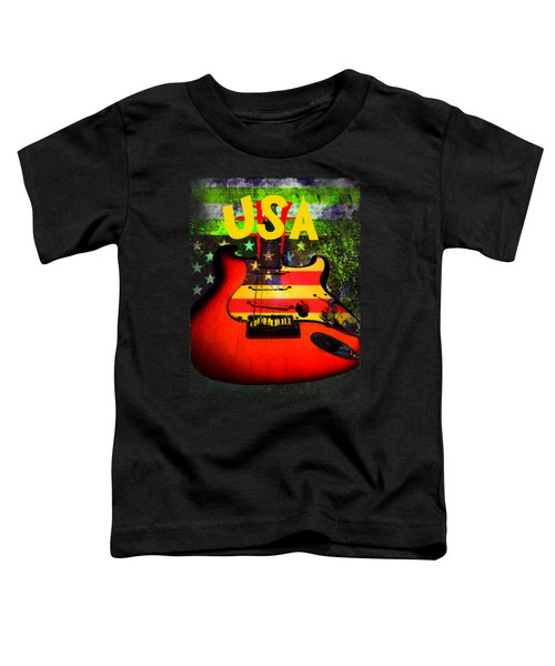Usa Guitar Music Toddler T-Shirt