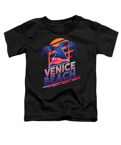 Venice Beach 80's Style Toddler T-Shirt by Alek Cummings