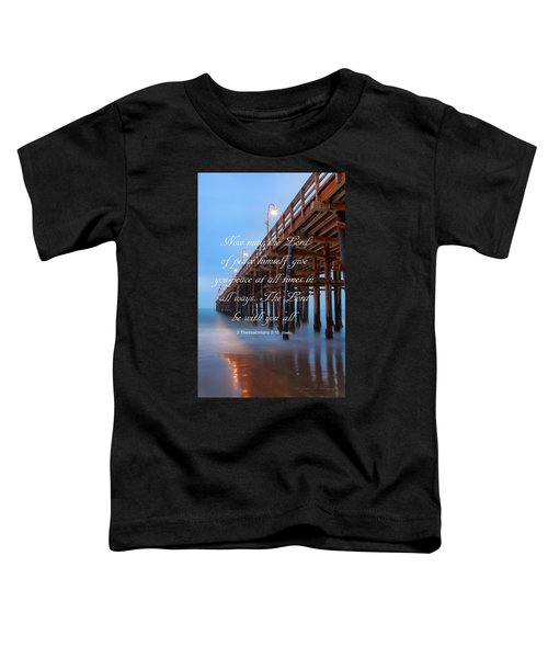 Ventura Ca Pier With Bible Verse Toddler T-Shirt