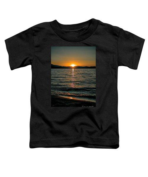 Vertical Sunset Lake Toddler T-Shirt