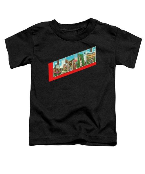Vintage Big Letters Utah State Souvenir Toddler T-Shirt