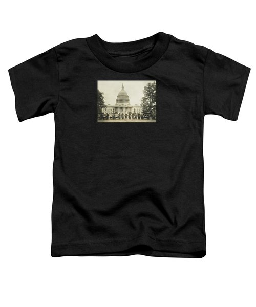 Vintage Motorcycle Police - Washington Dc  Toddler T-Shirt by War Is Hell Store