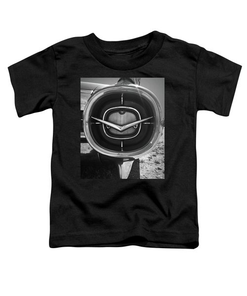 Vintage Tail Fin In Black And White Toddler T-Shirt
