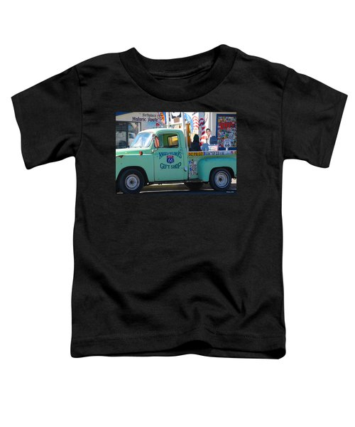 Vintage Truck With Elvis On Historic Route 66 Toddler T-Shirt