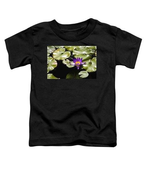 Vivid Purple Water Lilly Toddler T-Shirt