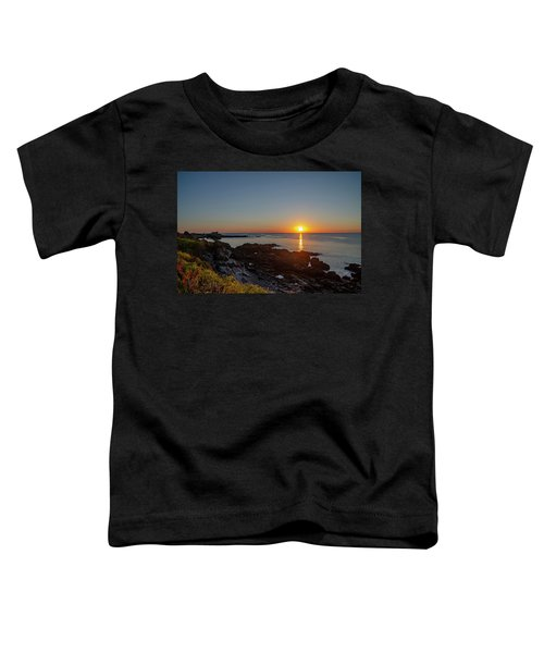 Walkers Point - Sunrise In Kennebunkport Maine Toddler T-Shirt