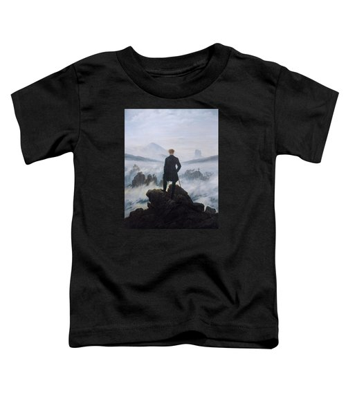 Wanderer Above The Sea Of Fog Toddler T-Shirt