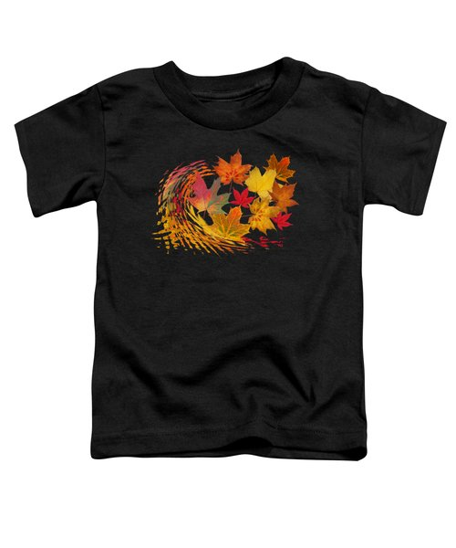 Warm Winds - Autumn Leaves Abstract Toddler T-Shirt