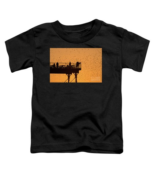 Watching The Sunset And Starlings In Aberystwyth Wales Toddler T-Shirt