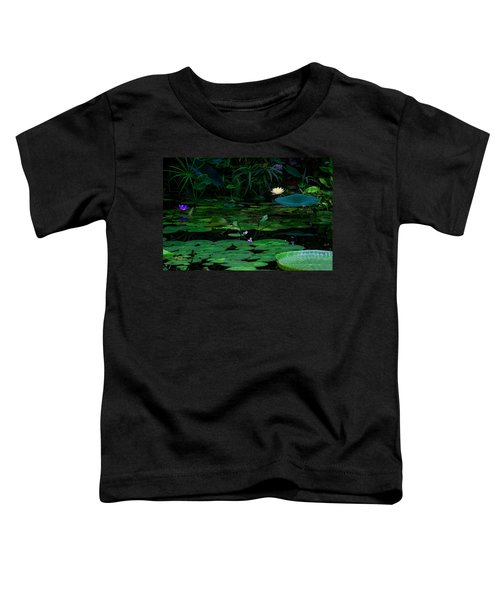 Water Lilies In The Pond Toddler T-Shirt