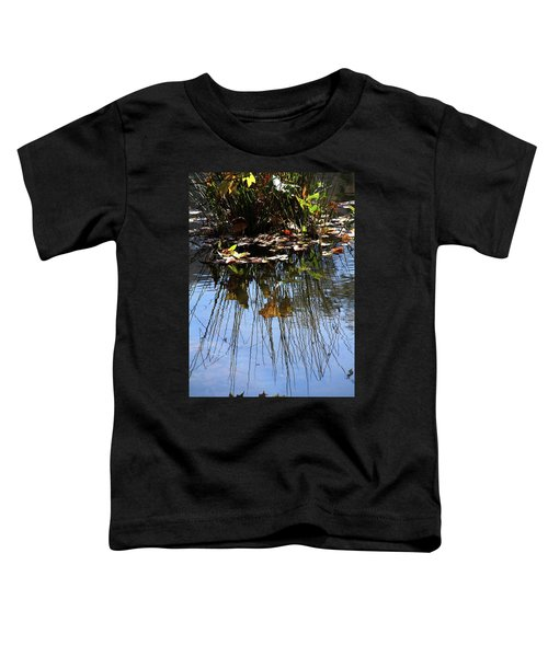Water Reflection Of Plant Growing In A Stream Toddler T-Shirt