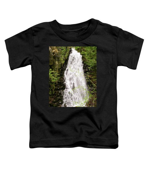 Water Roaring Down Cascade Falls, Farmington, Maine  -30377 Toddler T-Shirt
