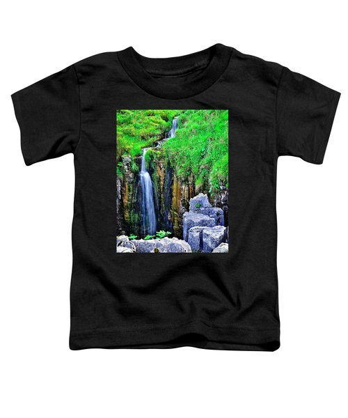 Waterfall At The Buttertubs, Swaledale Toddler T-Shirt