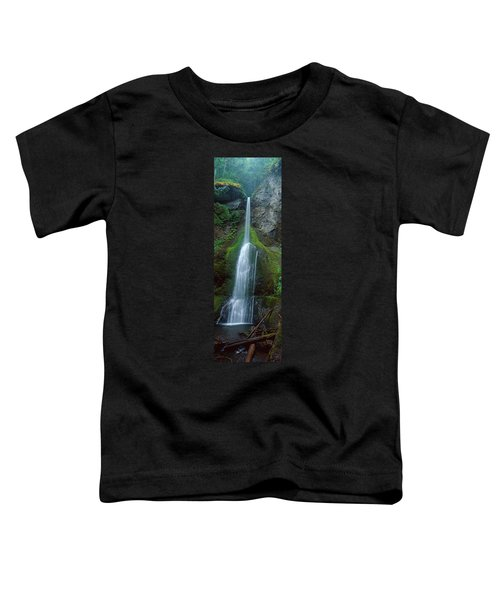 Waterfall In Olympic National Rainforest Toddler T-Shirt