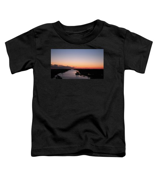 Waterway Sunset #1 Toddler T-Shirt