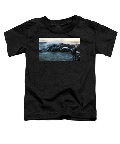 Wave Crashes Rocks 7959 Toddler T-Shirt