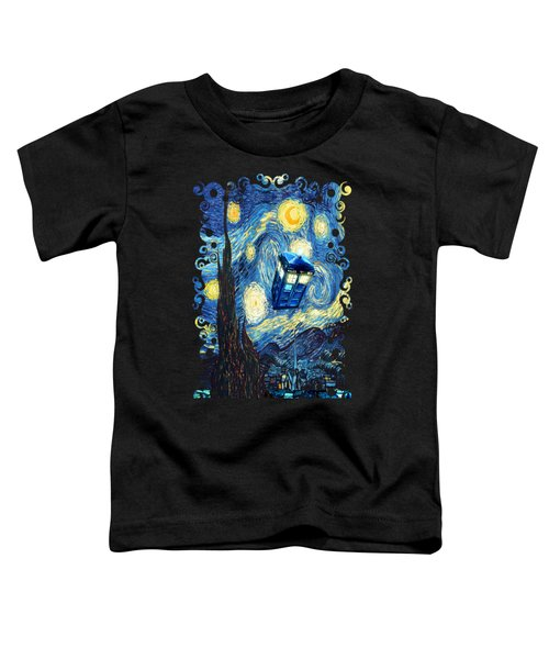 Weird Flying Phone Booth Starry The Night Toddler T-Shirt