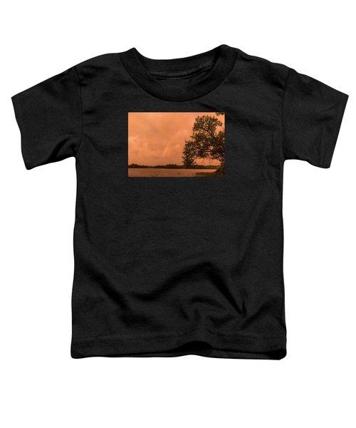 Strange Orange Sunrise With Rainbow Toddler T-Shirt
