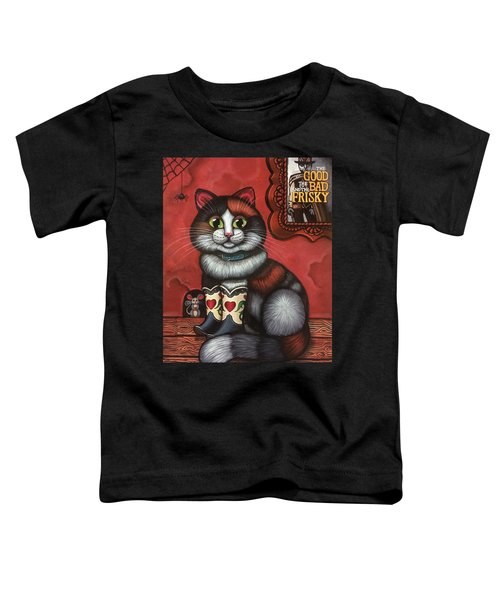 Western Boots Cat Painting Toddler T-Shirt