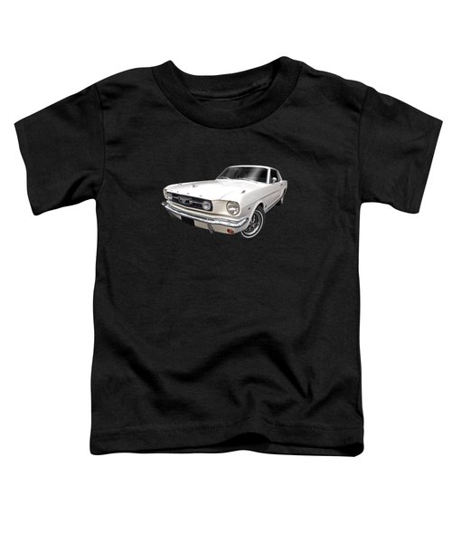 White 1966 Mustang Toddler T-Shirt
