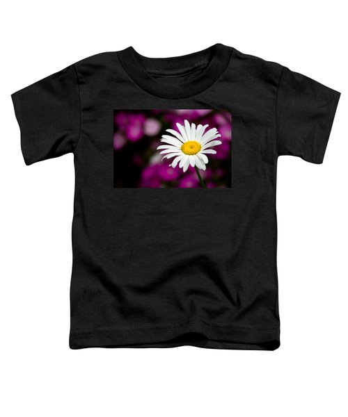 White On Pink Toddler T-Shirt