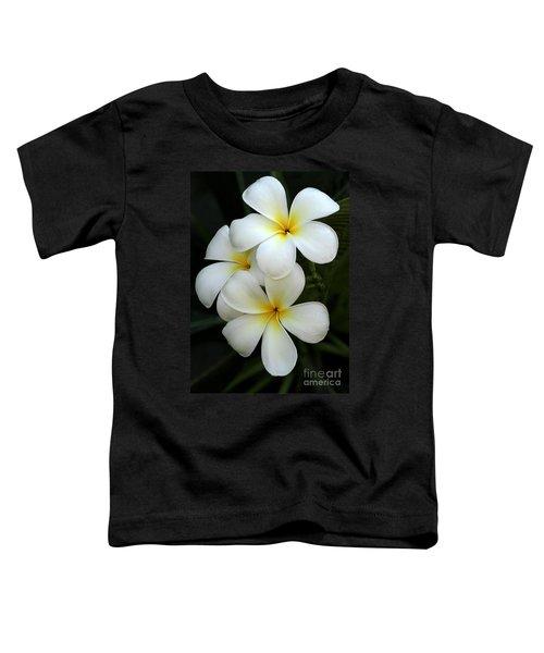 White Plumeria Toddler T-Shirt