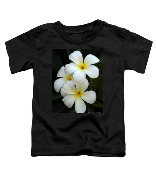 White Plumeria Toddler T-Shirt