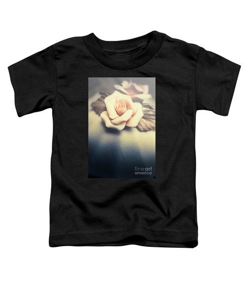 White Porcelain Rose Toddler T-Shirt