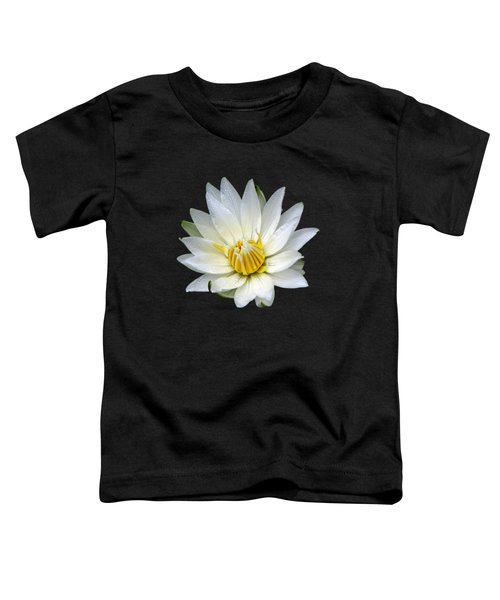 White Waterlily With Dewdrops Toddler T-Shirt