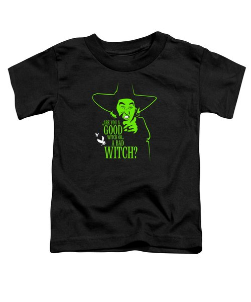 Wicked Witch Of West Toddler T-Shirt by Mos Graphix