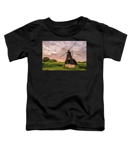 Wicken Wind-pump At Sunset II Toddler T-Shirt