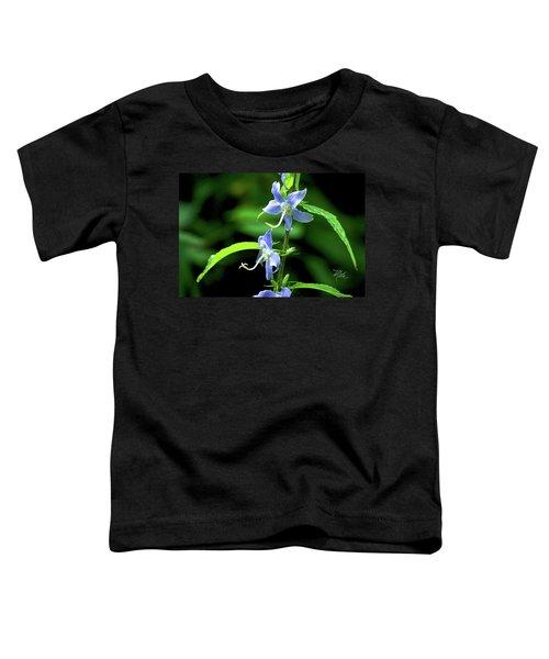 Wild Blue Flowers Toddler T-Shirt