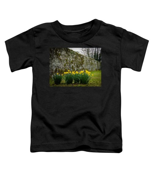 Toddler T-Shirt featuring the photograph Wild Daffodils At Coole Park by James Truett