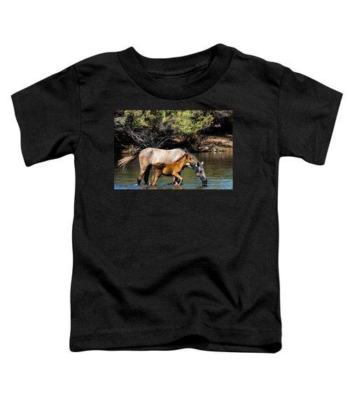Wild Horses On The Salt River Toddler T-Shirt