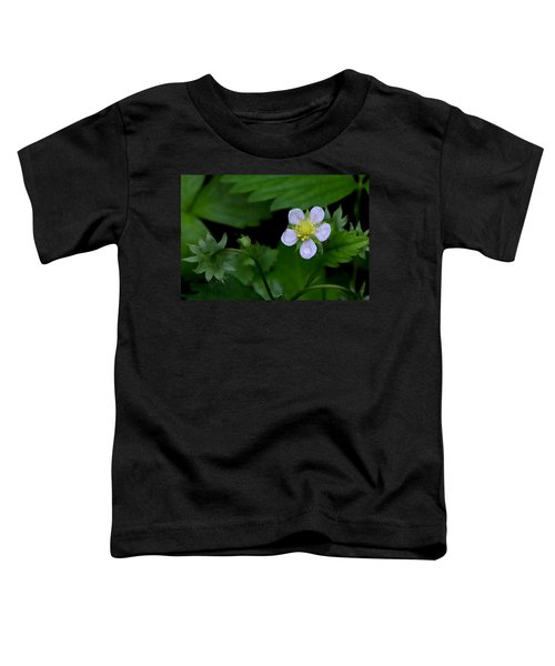 Wild Strawberry Blossom And Raindriops Toddler T-Shirt