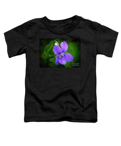 Wild Violet Flower Toddler T-Shirt